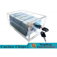 Cheap Acrylic Casino Game Accessories Dealers Card HolderFor 6 Decks Playing Cards wholesale