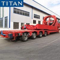 Cheap 4 Line 8 Axle Windmill Rotor Blade Transport Trailer for Sale for sale