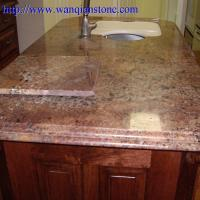 Yellow Granite Kitchen Countertop With Certificate Of