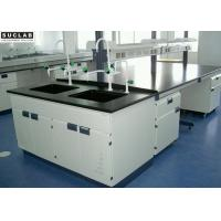 School Lab Tables And Furnitures Central Bench H Shape Frame 3000*1500*850mm