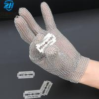 Cheap 5 level CE certificate S M L size Cut resistant metal mesh glove for butcher for sale