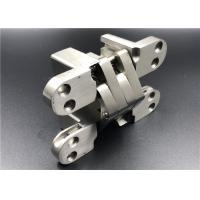 China Satin Stainless Steel Hidden Door Hinges With Wide Stronger Connecting Arms on sale