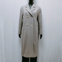 China Long Sleeve Polyester Rayon Yarn dyed Womens Trench Coat on sale