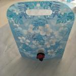 Cheap Custom Blue Printing Vertical Liquid Water Packaging Bag Leakproof SGS for sale