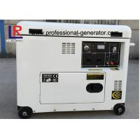 Cheap Electric Start 5.5kw Diesel Generator , Brush with AVR , Straight Shaft Coupling for sale