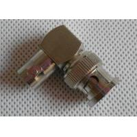 Cheap Copper Nickel Plated CCTV BNC Connector , Right Angle Male To Female Connector for sale