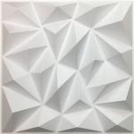 Cheap DIY Geometric 3D PVC Wall Panels Washable Eco Friendly Depth 0.1 Centimeters for sale