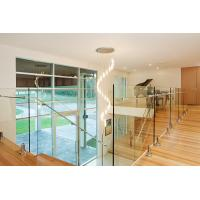Cheap Architectural  Balustrade Glass for Stairs Railing , Toughened glass panels 10mm heat soaked for sale