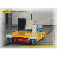 Cheap Warehouse Transferring Flat Rail Guided Vehicle , Cargo Heavy Duty Cart Trolley for sale