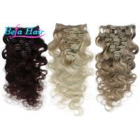 Cheap Highlighted White / Grey 1b# Clip In Hair Extension Unprocessed Virgin Human Hair for sale