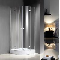 Cheap Quadrant Curved Glass Shower Enclosures For Star Rated Hotels / Model Rooms for sale