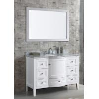 China Free Standing Bathroom Vanity Cabinets Furniture with White Glossy Finish on sale