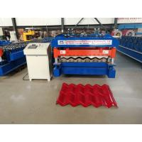 Cheap 5.5 kw Servo Motor Glazed Tile Roll Forming Machine High speed 4 m/min for sale