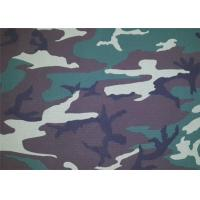 Cheap Camouflage Polyester Print Fabric / Modern Print Fabric Soft for sale