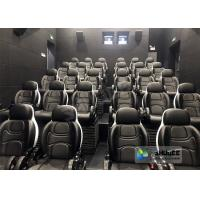 Cheap Amusing Safety 5D Movie Theater Free - Life Time Update Genuine Leather With 3 Seats for sale
