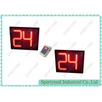 Cheap Red LED Electronic Basketball 24 Seconds Shot Clock with Handheld Wireless Console for sale