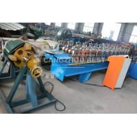 China Color Coated Steel Sheet Ridge Cap Roll Forming Machine Tile Press on sale
