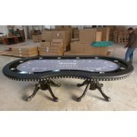 modern texas hold em poker table with led strip 10 person