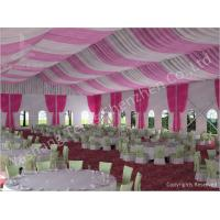 Cheap 300 People Luxury Wedding Tents Rentals Aluminium Frame Marquee With Pink White Lining Decoration wholesale