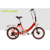 Buy cheap Red Citizen Lightweight 20 Inch Folding Electric Bike 36v 250w V Brake from wholesalers