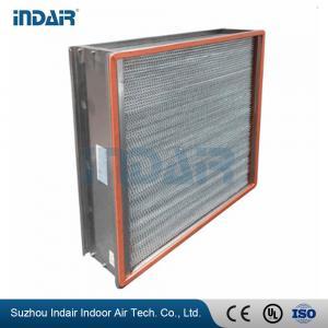 China H13 Heat-Resistant Clean Room HEPA Filters , HEPA Air Filter 450Pa Final Pressure Drop on sale