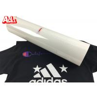 Cheap White Color Perforated Hot Transfer Vinyl High Elasticity Good Color Saturation for sale