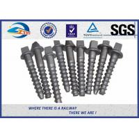 Quality Railway sleeper fixing screws Black Oxide ISO 24 Dia 160 Length SS8 wholesale