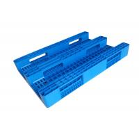 Cheap HDPE Reusable Solid Heavy Duty Plastic Pallets 3 - Skids In Blue Color for sale
