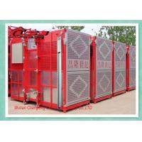 Cheap Twin Cage Personel Materials Construction Elevator , Builders Buck Hoist Elevator wholesale