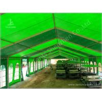 Green Warehouse Fabric Tent Structures Clear Span Marquee