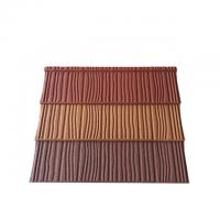China 0.4mm Construction Building Roofing Material Wood Type Stone Coated Metal Roof Tiles on sale