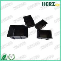China Permanently Conductive ESD Storage Box / ESD Component Box Has Open Hopper Front on sale