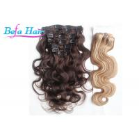 Cheap Malaysian 22 Inch / 24 Inch Virgin Remy Clip In Hair Extension For Full Head for sale