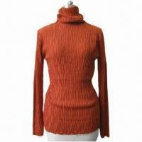 Cheap Ladies' Pullover Sweater with Turtle Neck for sale