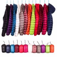 China Multi Color Womens Down Puffer Coat , Lightweight Puffer Jacket Zipper Front on sale