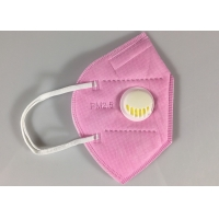 Cheap Disposable GB2626-2006 KN95 Earloop Face Mask With Valve In Pink for sale
