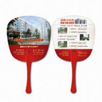 Cheap Hand Fans, Customer's Logos Printings are Available, Made of PP, Suitable for Promotional Purposes for sale