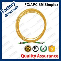 China fc/apc optic fiber patch cords for structure cabling to patch panel ST SC FC LC green connectors single mode simplex on sale
