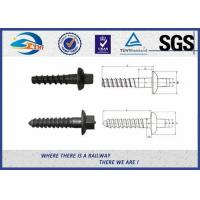Cheap Q235 40Cr Carbon Steel Railway Sleeper Screws Rail Fasteners SGS / ISO9001 for sale