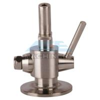 Cheap Hygienic Stainless Steel 304 Manual PTFE Sealing Clamp Sample Valve Stainless Steel Automatic Return Aspetic Sample Val for sale
