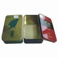 Cheap Tin Boxes, Measures 139x85x41mm, Customized Colors are Accepted for sale
