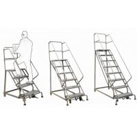 Cheap Safety Industrial Steel Rolling Ladder / Step Ladder Step Ladder-RL354B Order Picker for sale