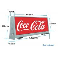 Cheap Double Sided Outdoor Led Billboard 4000 / 1 Resolution Taxi Advertising Display for sale