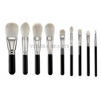 Cheap Exclusive Luxury Softest Makeup Brushes  Private Label Silver Copper Ferrule for sale