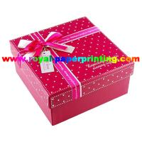 Cheap colorful lid and base cosmetic / jewelry paper box printing for sale