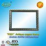 Cheap Photo Frame In Zamak Model No. F001 Gold Old Gold Bronze size 12*16.5cm zamak name plate frame for sale