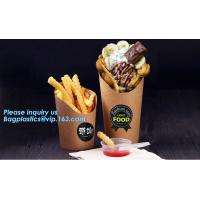 Cheap French fries cone,chips french fries packaging,Size Kraft Cardboard Cone French Fries Printed Paper Cones bagease packag for sale