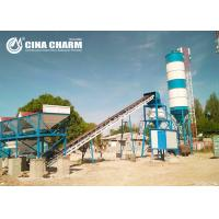 China Professional concrete batching plant HZS90  with 100ton bolted cement silo equipment on sale