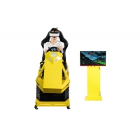 Cheap Manual Operation VR Race car simulator Different Maps High Resolution VR Headset for sale
