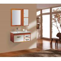 Cheap 600X500X870 mm Floor Mounted MDF modern pvc white bathroom sink base cabinets for sale